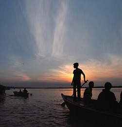 Morning boat ride on the Ganges