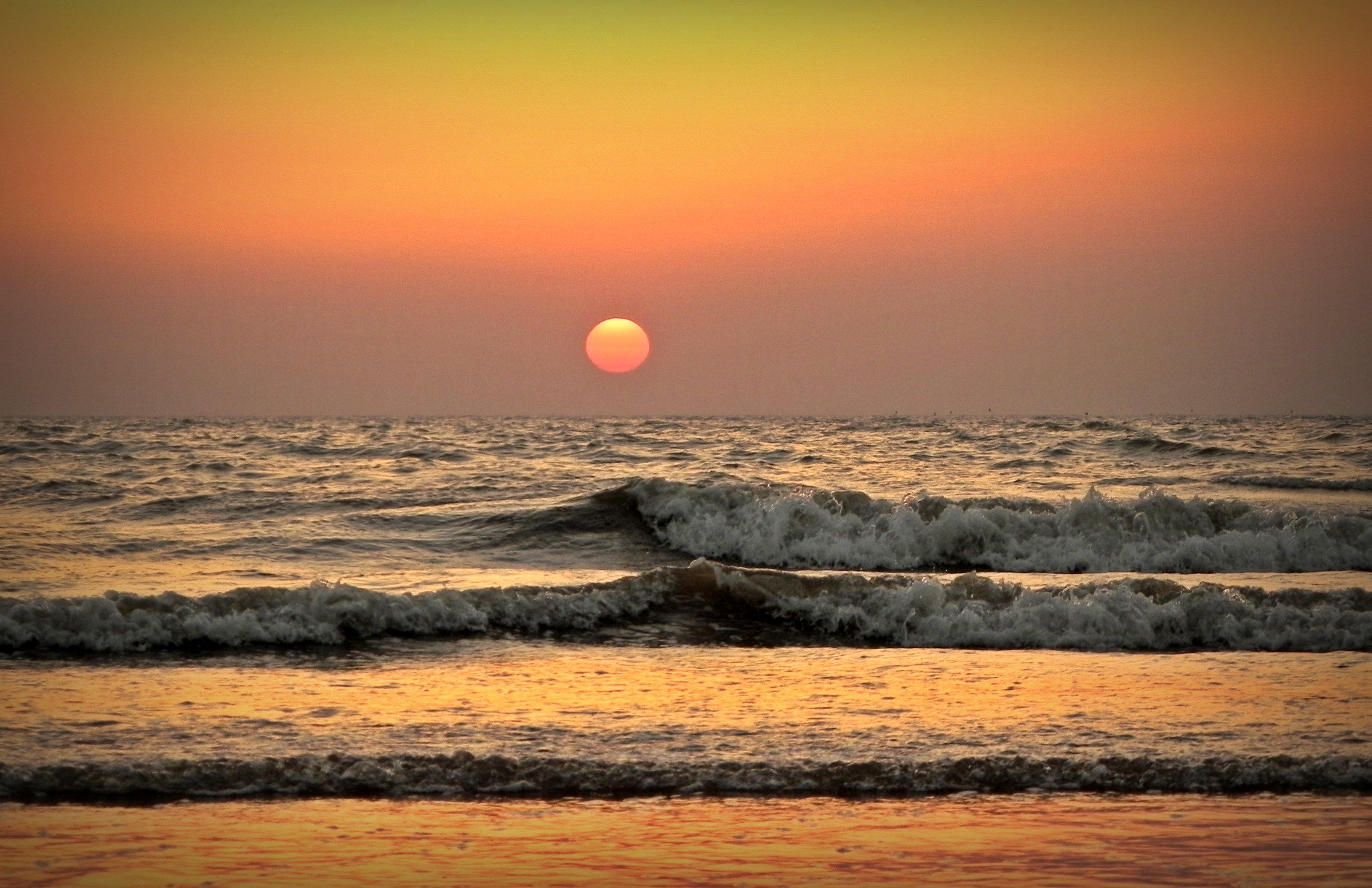 Sunset at the Juhu Beach