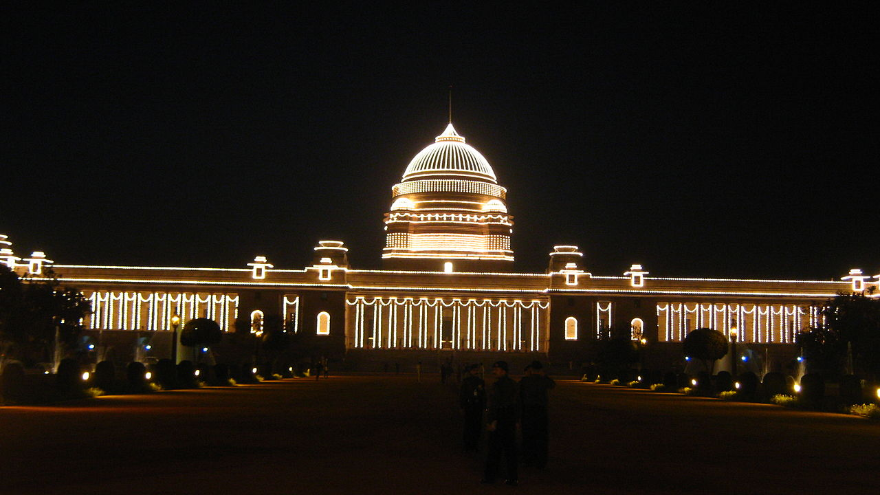 Illuminated President House