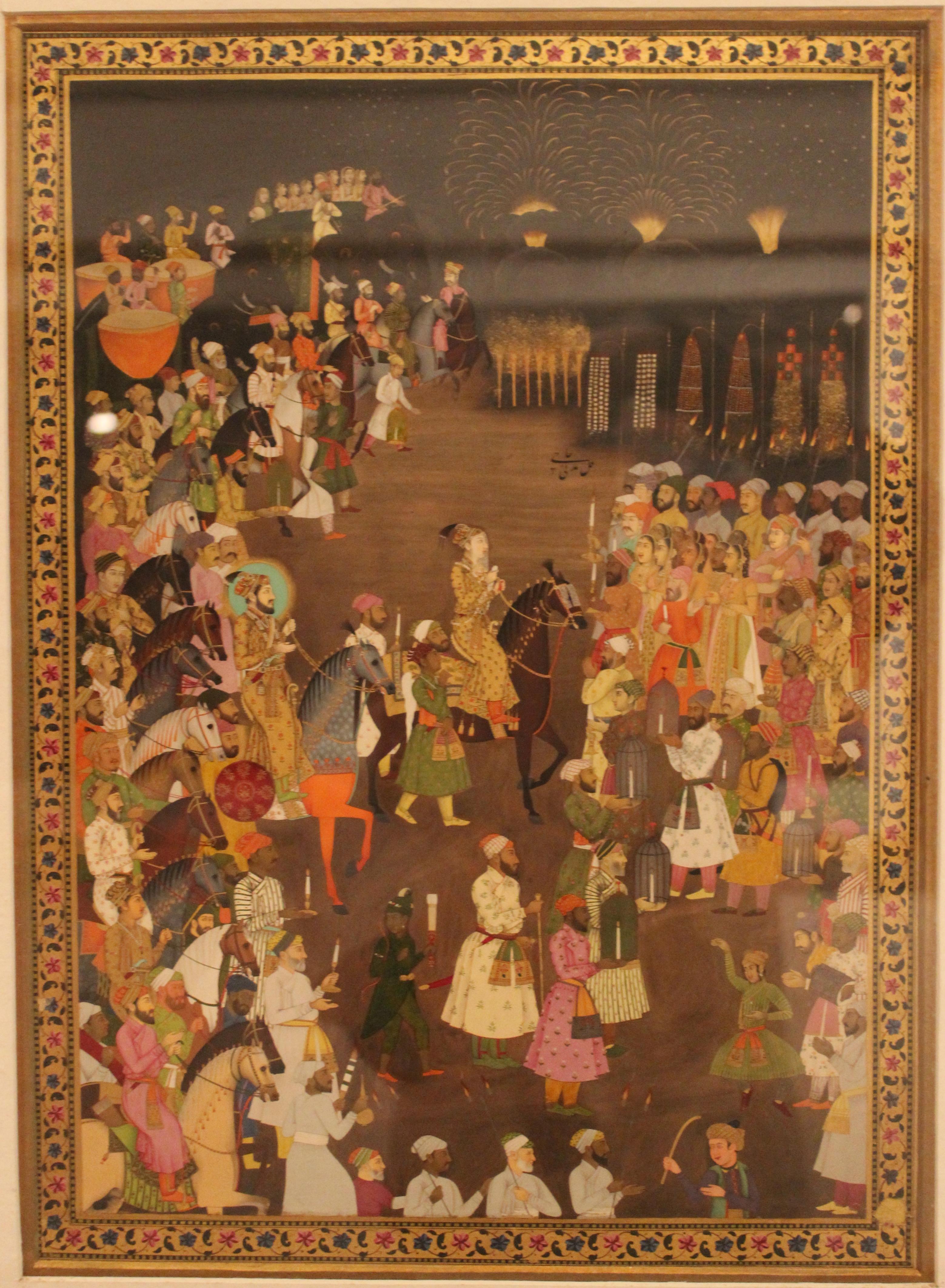 Miniature Mughal pianting