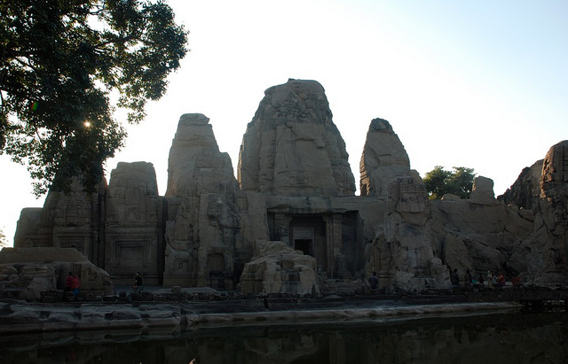 monolithic rock cut cave temples masroor2