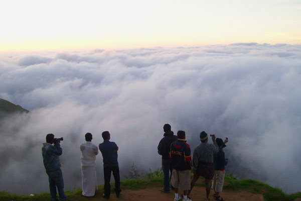 View of Land and Cloud from Munnar