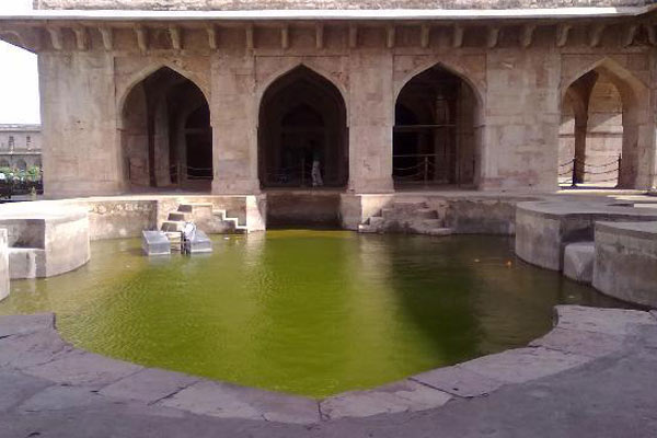 Small Pond In Jahaj Mahal
