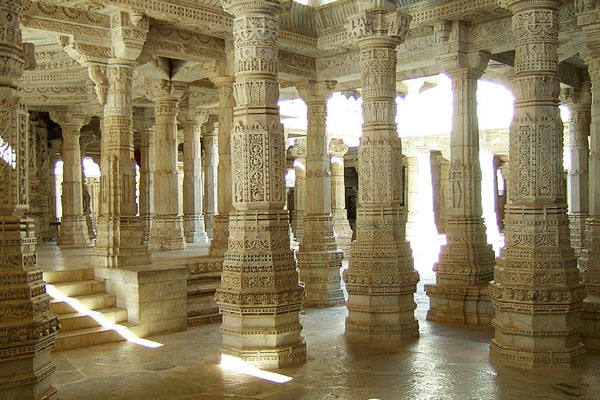 Inside View of Ranakpur Jain Temples