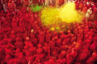 Colourful holi festival
