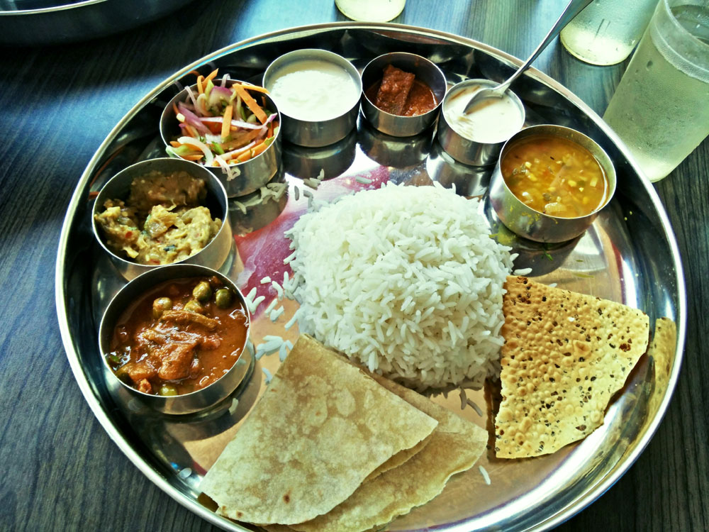 North Indian Thaali Meal